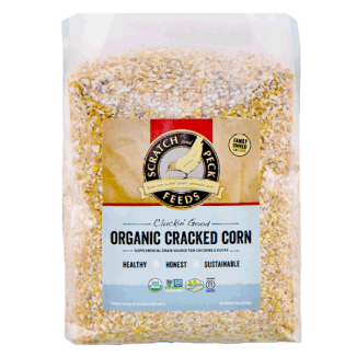 Cluckin' Good Organic Cracked Corn 8lb