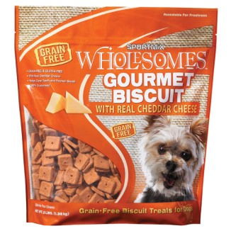 SPORTMiX Gourmet Biscuit with Real Cheddar Cheese Dog Biscuit Treats 3lb Bag